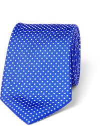 Cravatta a pois blu