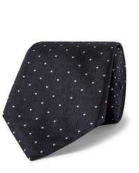 Cravatta a pois blu scuro e bianca di Hugo Boss
