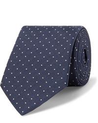 Cravatta a pois blu scuro e bianca di Paul Smith