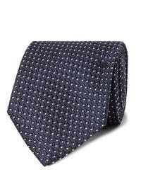 Cravatta a pois blu scuro e bianca di Tom Ford