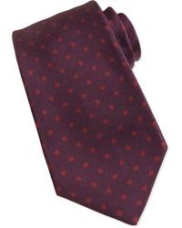 Cravatta a pois bordeaux