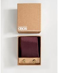 Cravatta a pois bordeaux di Asos
