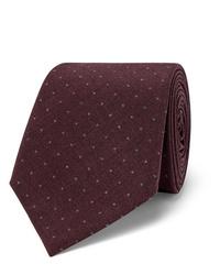 Cravatta a pois bordeaux di Brunello Cucinelli