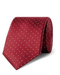 Cravatta a pois bordeaux di Lanvin