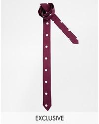 Cravatta a pois bordeaux di Reclaimed Vintage