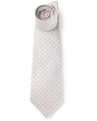 Cravatta a pois grigia