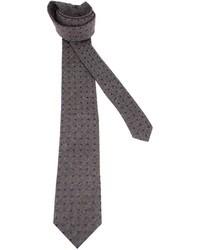 Cravatta a pois grigio scuro