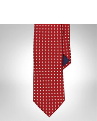 Cravatta a pois rossa
