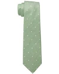 Cravatta a pois verde oliva
