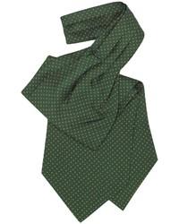 Cravatta a pois verde scuro