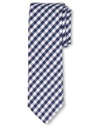 Cravatta a quadretti bianca e blu scuro