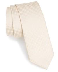 Cravatta a quadri beige