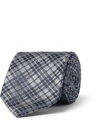 Cravatta a quadri grigio scuro