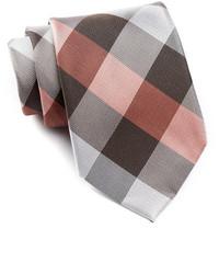 Cravatta a quadri marrone