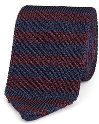 Cravatta a righe orizzontali blu scuro