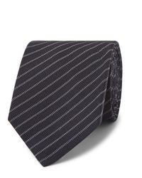 Cravatta a righe orizzontali blu scuro di Berluti