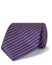 Cravatta a righe orizzontali blu scuro di Charvet