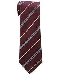 Cravatta a righe orizzontali bordeaux