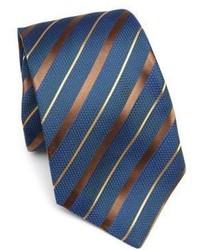 Cravatta a righe orizzontali foglia di tè