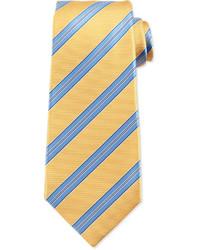 Cravatta a righe orizzontali gialla