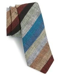 Cravatta a righe orizzontali multicolore
