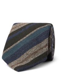 Cravatta a righe orizzontali multicolore di Brioni