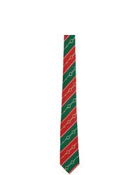 Cravatta a righe orizzontali multicolore di Gucci