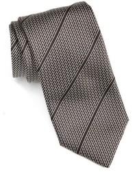 Cravatta a righe orizzontali nera