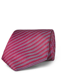 Cravatta a righe orizzontali rossa di Charvet