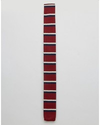 Cravatta a righe orizzontali rossa di Original Penguin