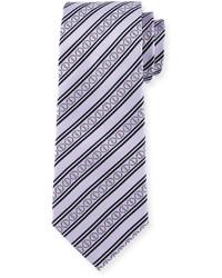 Cravatta a righe orizzontali viola chiaro
