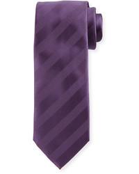 Cravatta a righe orizzontali viola