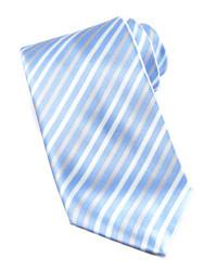 Cravatta a righe verticali azzurra