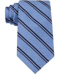 Cravatta a righe verticali blu
