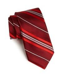Cravatta a righe verticali bordeaux