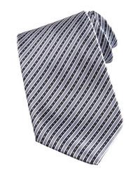 Cravatta a righe verticali grigia