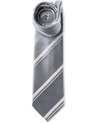 Cravatta a righe verticali grigia di Brioni