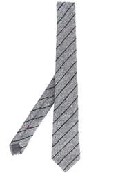 Cravatta a righe verticali grigia di Brunello Cucinelli
