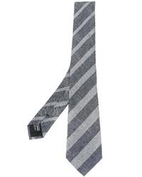 Cravatta a righe verticali grigia di Giorgio Armani