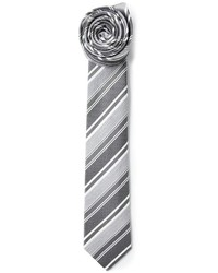 Cravatta a righe verticali grigia di Jil Sander