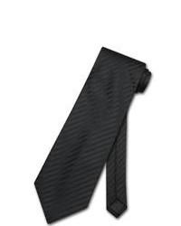 Cravatta a righe verticali nera