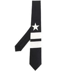 Cravatta a righe verticali nera di Givenchy