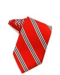 Cravatta a righe verticali rossa