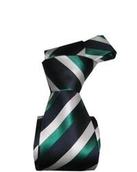 Cravatta a righe verticali verde scuro