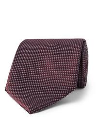 Cravatta bordeaux di Ermenegildo Zegna