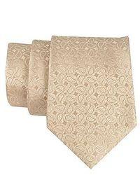 Cravatta con stampa cachemire beige