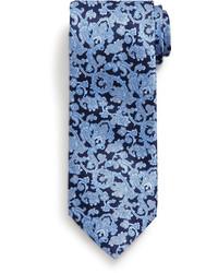 Cravatta con stampa cachemire blu scuro
