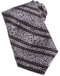 Cravatta con stampa cachemire grigia