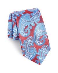 Cravatta con stampa cachemire multicolore