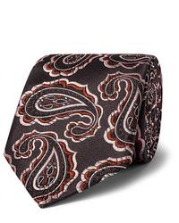 Cravatta con stampa cachemire nera di Kingsman